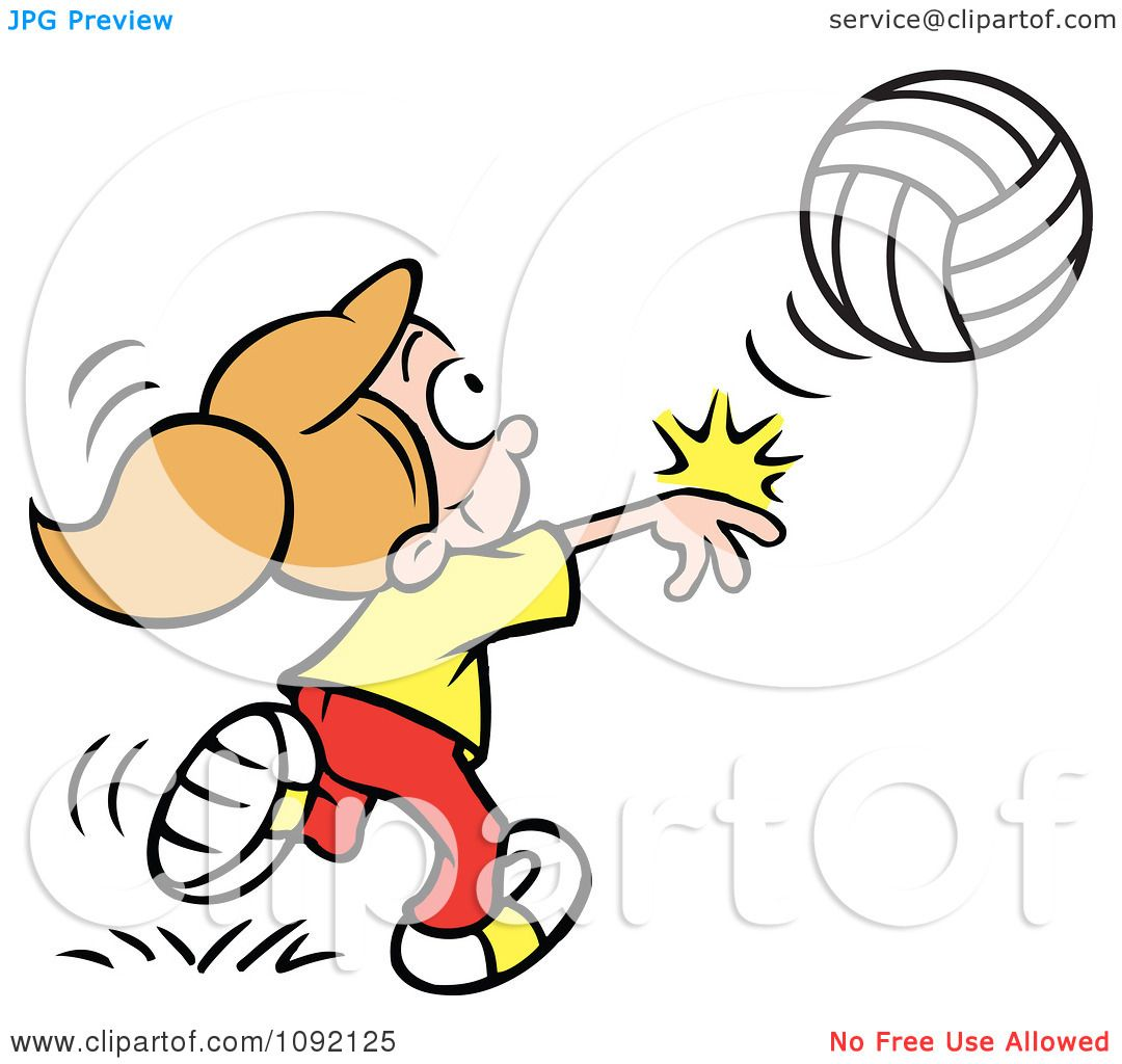 Playing volleyball clipart svg download Girl Playing Volleyball Clipart | Free download best Girl ... svg download