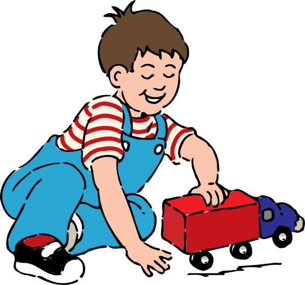Plays clipart clipart royalty free library Boy Playing With Toy Truck Clip Art at Clker.com - vector ... clipart royalty free library
