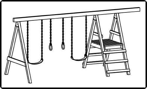 Swingset clipart black and white clipart free download Playset Cliparts - Cliparts Zone clipart free download