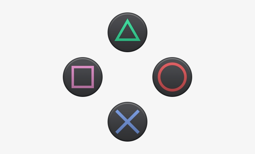 Playstation buttons clipart graphic freeuse library Playstation Logo - Playstation 4 Buttons - Free Transparent ... graphic freeuse library