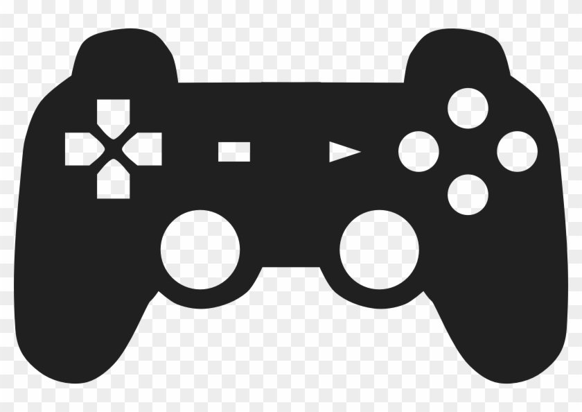 Playstation clipart image black and white download Joystick Clipart Ps4 - Playstation Controller Silhouette, HD ... image black and white download