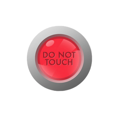 Please do not touch clipart svg black and white stock Please Do Not Touch Sign transparent PNG - StickPNG svg black and white stock