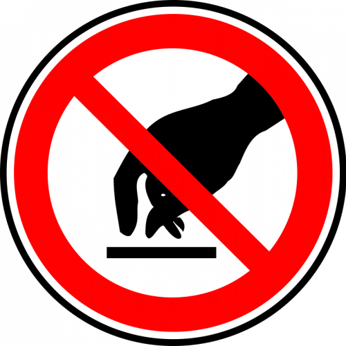Please do not touch clipart png black and white Touch Cliparts - Cliparts Zone png black and white