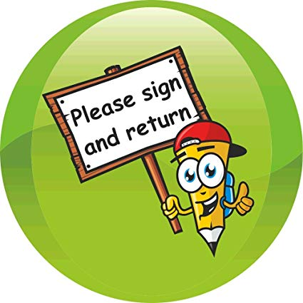 Please sign and return clipart clip art free library 90 Sign & Return School Reminder 35mm Stickers clip art free library