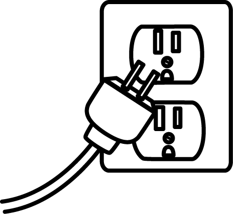 Plugged in clipart free banner black and white library Electrical Clipart | Free download best Electrical Clipart ... banner black and white library