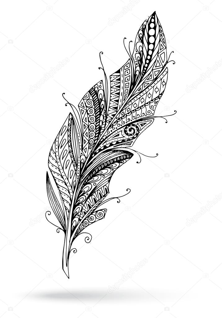 Pluim clipart clip freeuse library Download stylized feather clipart Feather Drawing clip freeuse library