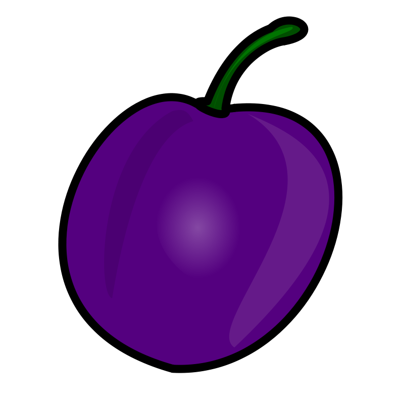 Plum clipart banner royalty free Free Clipart: Plum | nicubunu banner royalty free