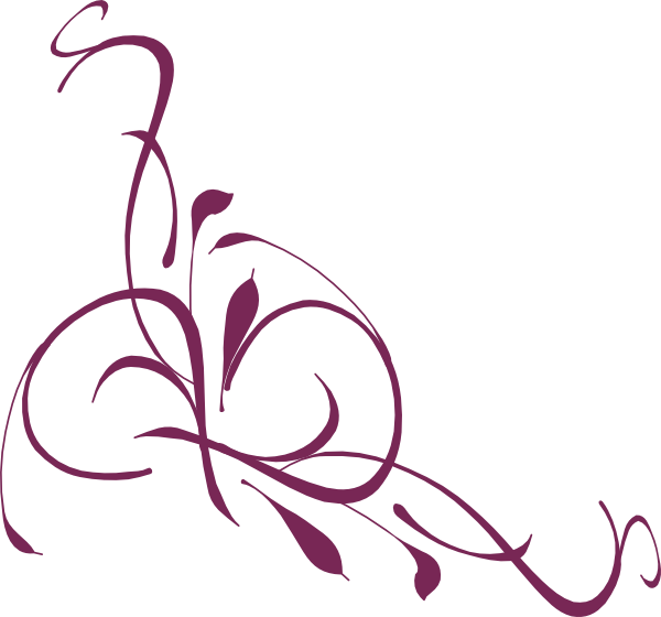 Plum flower clipart svg freeuse download Floral Swirl Plum Clip Art at Clker.com - vector clip art online ... svg freeuse download