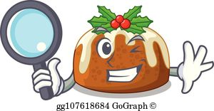 Plum pudding clipart png transparent library Plum Pudding Clip Art - Royalty Free - GoGraph png transparent library