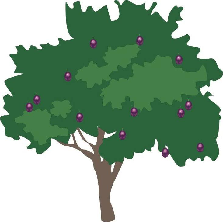 Plum tree clipart banner black and white Plum Tree Cliparts - Cliparts Zone banner black and white