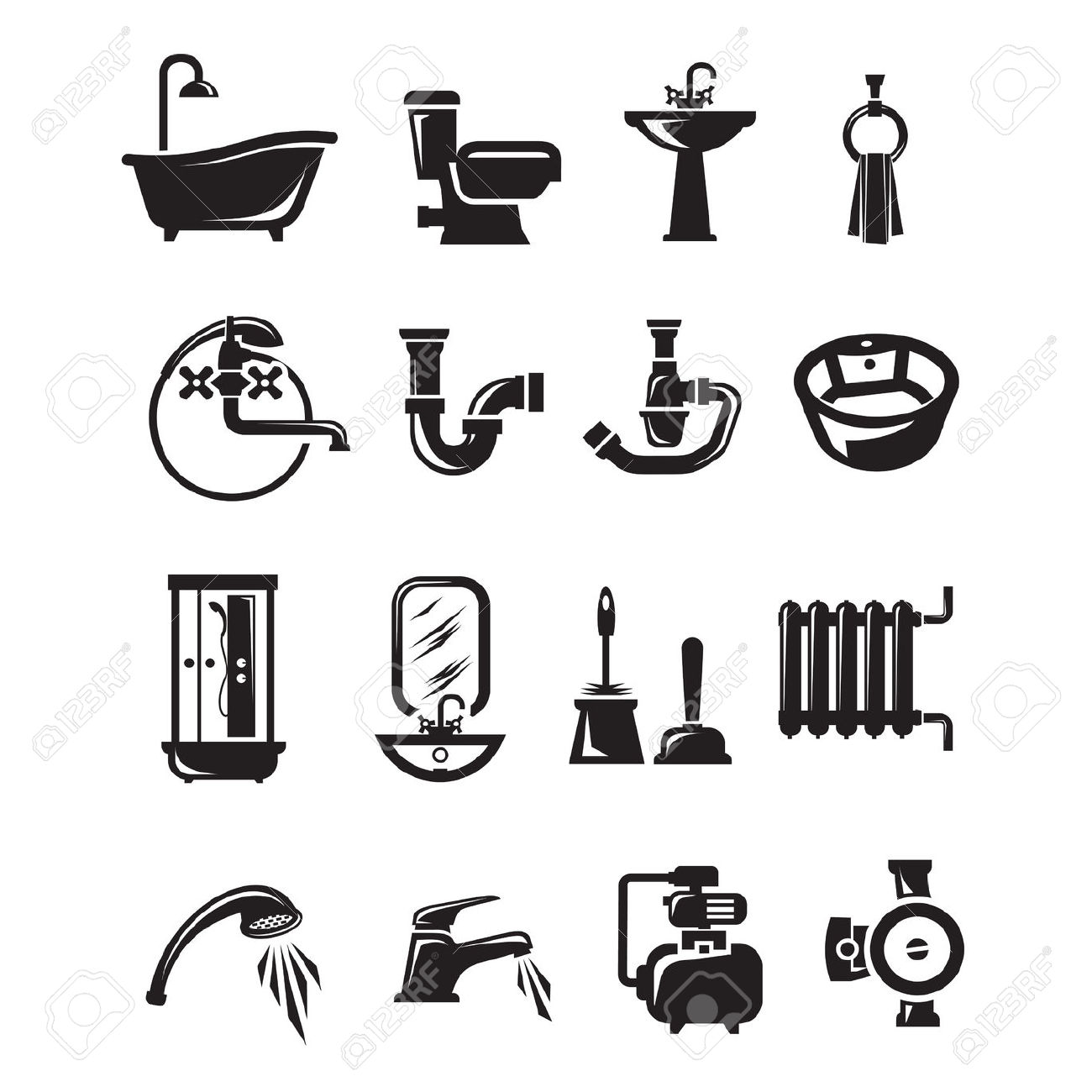 Plumbing and heating clipart vector library 16,211 Plumbing Stock Vector Illustration And Royalty Free ... vector library