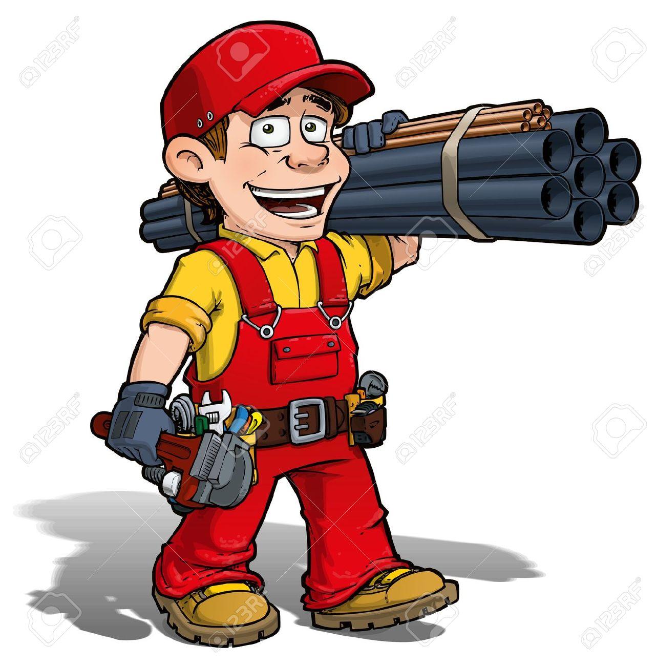 Plumbing cartoon clipart vector black and white stock Plumbing cartoon clipart - ClipartFest vector black and white stock