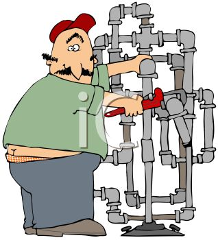 Plumbing cartoon clipart png black and white download Fat Dude Clipart - Clipart Kid png black and white download