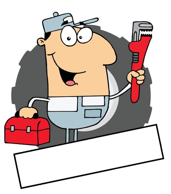 Plumbing cartoon clipart vector freeuse stock Plumbing Clipart - Cliparts and Others Art Inspiration vector freeuse stock