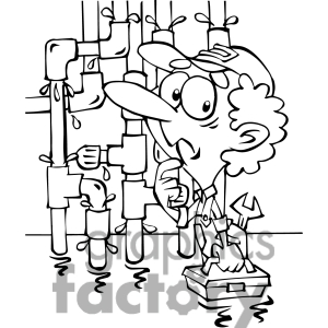 Plumbing character clipart banner black and white download Plumbing Black And White Clipart - Clipart Kid banner black and white download