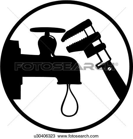 Plumbing clipart images banner Clipart of , elements, faucet, occupations, plumbing, sign, spigot ... banner