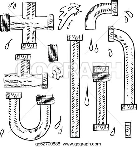Plumbing pipe clipart picture library stock Plumbing Pipes Clip Art - Royalty Free - GoGraph picture library stock
