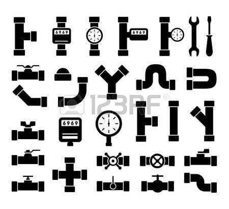 Plumbing pipe clipart picture royalty free library 16,211 Plumbing Stock Vector Illustration And Royalty Free ... picture royalty free library