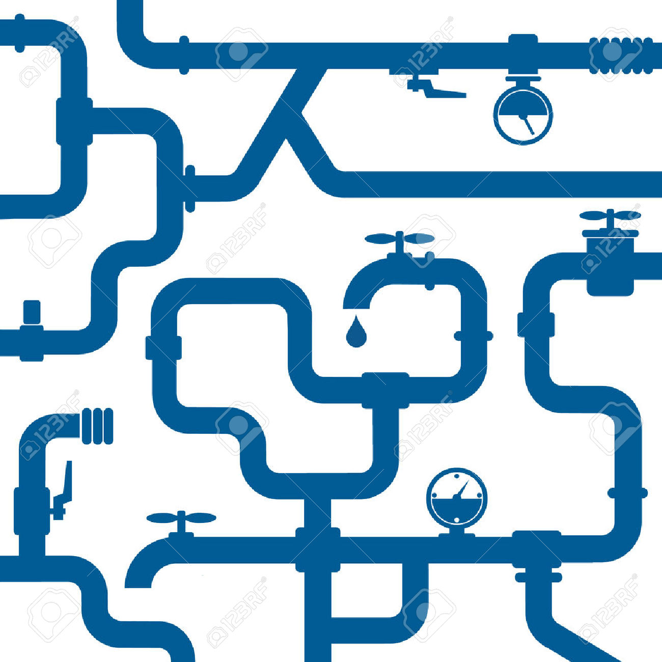 Plumbing pipe clipart clip royalty free library Background Of Plumbing And Taps, Repair Royalty Free Cliparts ... clip royalty free library
