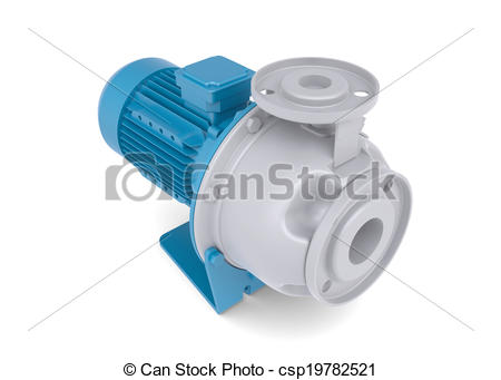Plumbing pump icon clipart jpg free stock Clip Art of Water pump motor. Isolated render on a white ... jpg free stock
