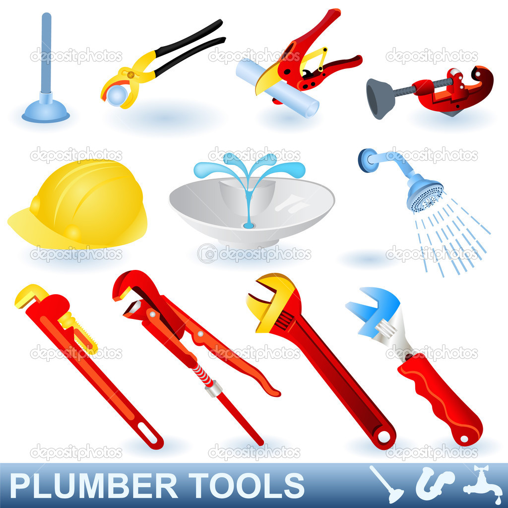 Plumbing tools clipart graphic library stock Plumber Tools Clipart - Clipart Kid graphic library stock