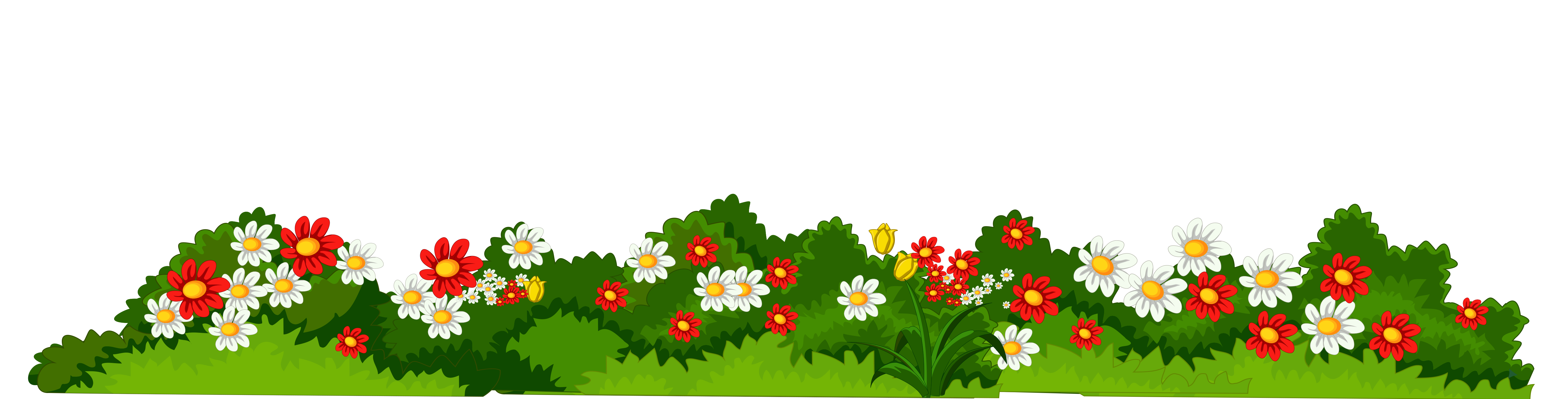 Png clipart transparent background banner freeuse download Flowers with Grass Transparent PNG Clipart banner freeuse download