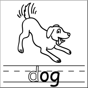 Png dogs clipart black and white word art clipart transparent download Clip Art: Basic Words: -og Phonics: Dog B&W I abcteach.com ... clipart transparent download