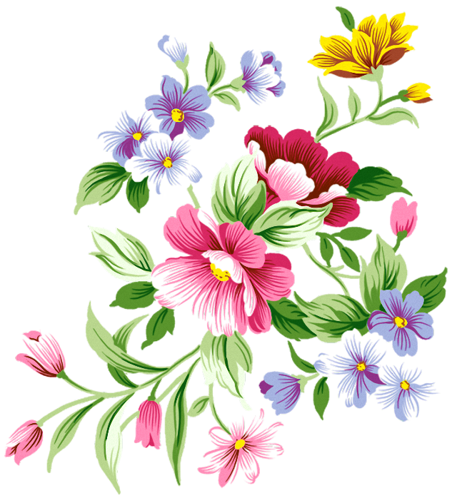Png flower clipart vector free library Flowers Decoration PNG Clipart vector free library