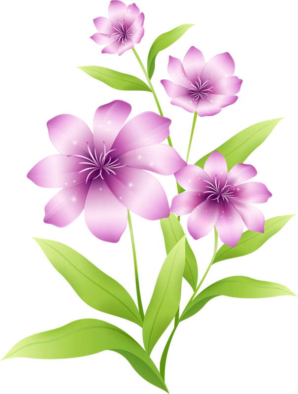 Png flower clipart clipart royalty free download Large_Light_Pink_Flowers_Clipart.png?m=1366495200 clipart royalty free download