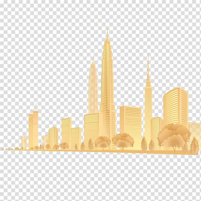 Png gold city clipart image free City Gold Fog, Golden City haze transparent background PNG ... image free
