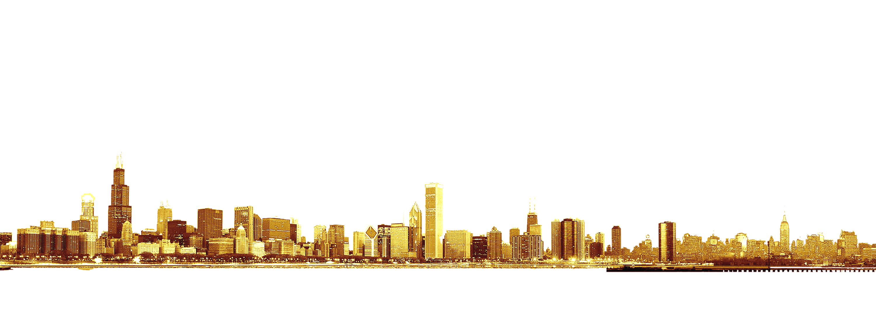 Png gold city clipart image royalty free Chicago Skyline Brand Font - Golden city png download - 3000 ... image royalty free