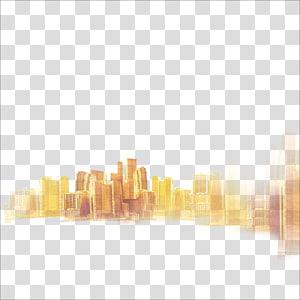 Png gold city clipart image black and white stock City Gold Fog, Golden City haze transparent background PNG ... image black and white stock