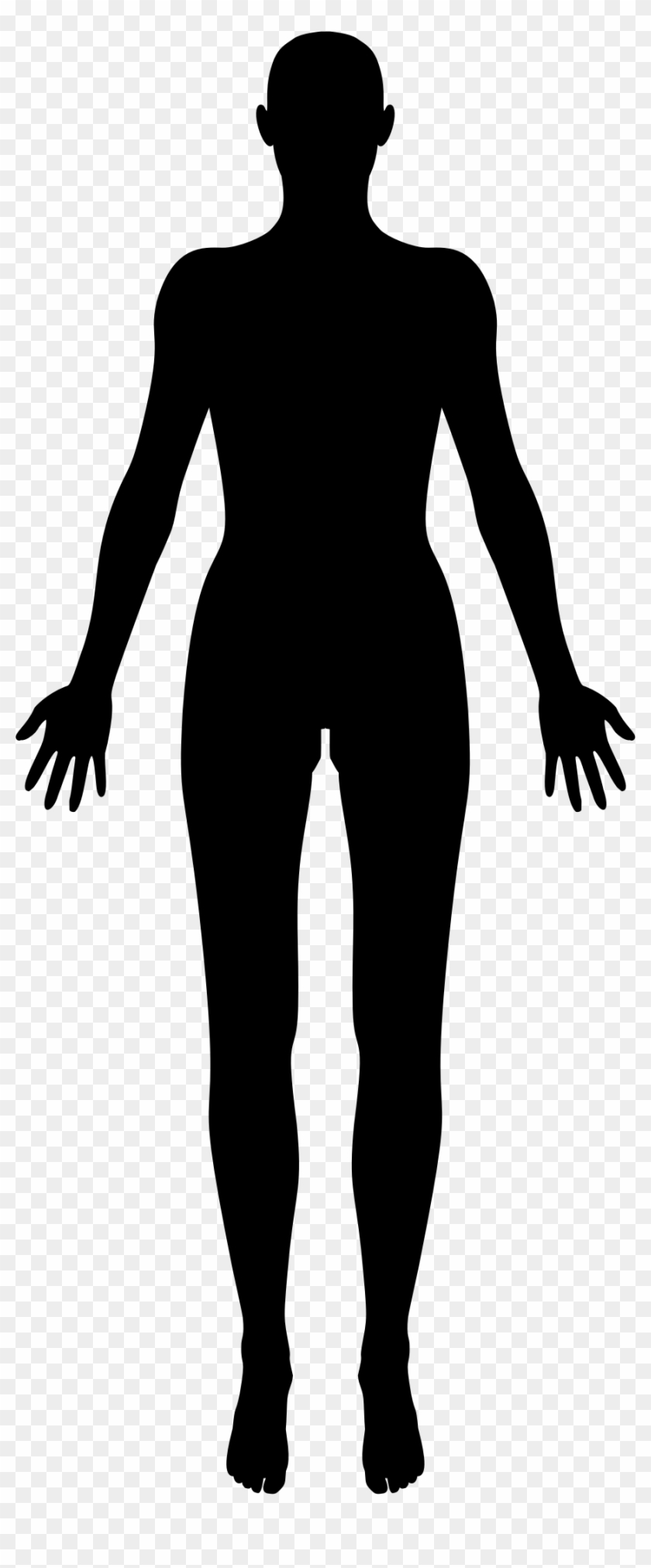 Pngs bodies clip freeuse library Female Body Silhouette Big Image Png Ⓒ - Human Body ... clip freeuse library