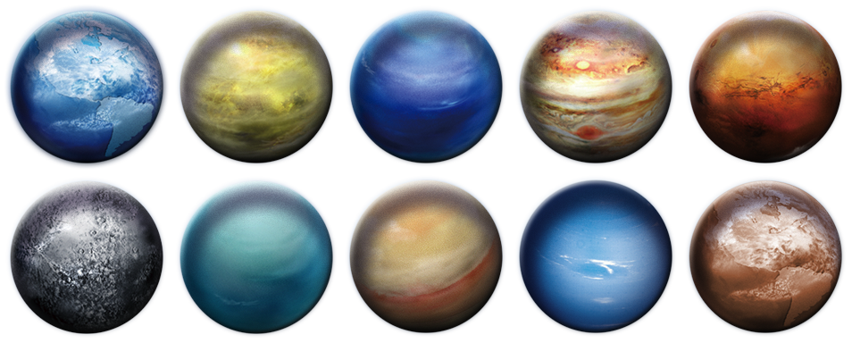 Pngs of all the planets