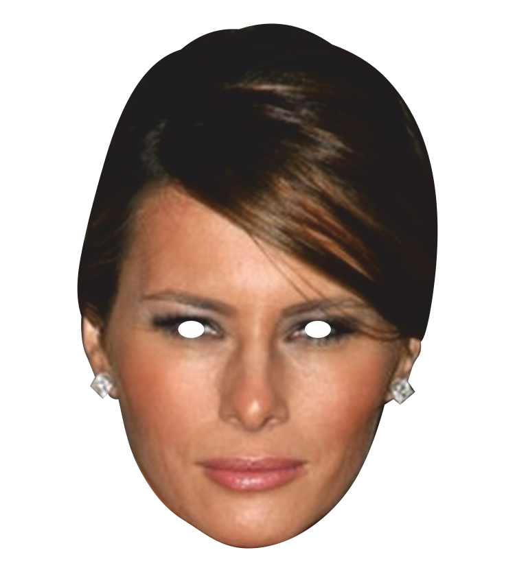 Pngs of melania faces vector library download Melania Trump Mask vector library download