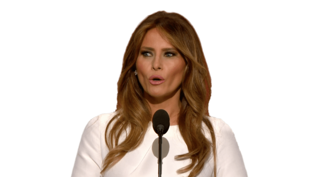 Pngs of melania faces png black and white download Melania Trump transparent PNG - StickPNG png black and white download