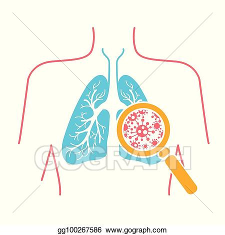 Pnuemonia clipart clip art freeuse stock Vector Illustration - Icon of lung pneumonia. EPS Clipart ... clip art freeuse stock