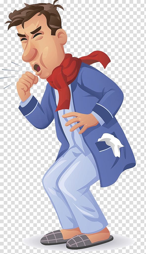 Pnuemonia clipart picture freeuse library Coughing man wearing red scarf poster, Legionellosis Symptom ... picture freeuse library