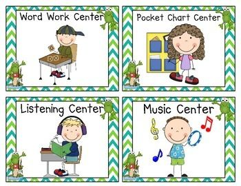 Pocket chart center clipart banner library stock Frog Themed Pocket Chart Center Cards | center signs | Frog ... banner library stock