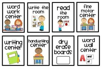 Pocket chart center clipart clipart download Literacy Center Labels for a Pocket Chart - Clip Art Library clipart download