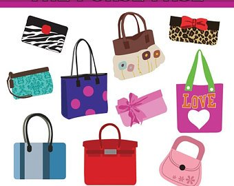 Pocketbooks clipart banner free download Clipart The Purse Page Digital Clip Art Set - Personal And ... banner free download