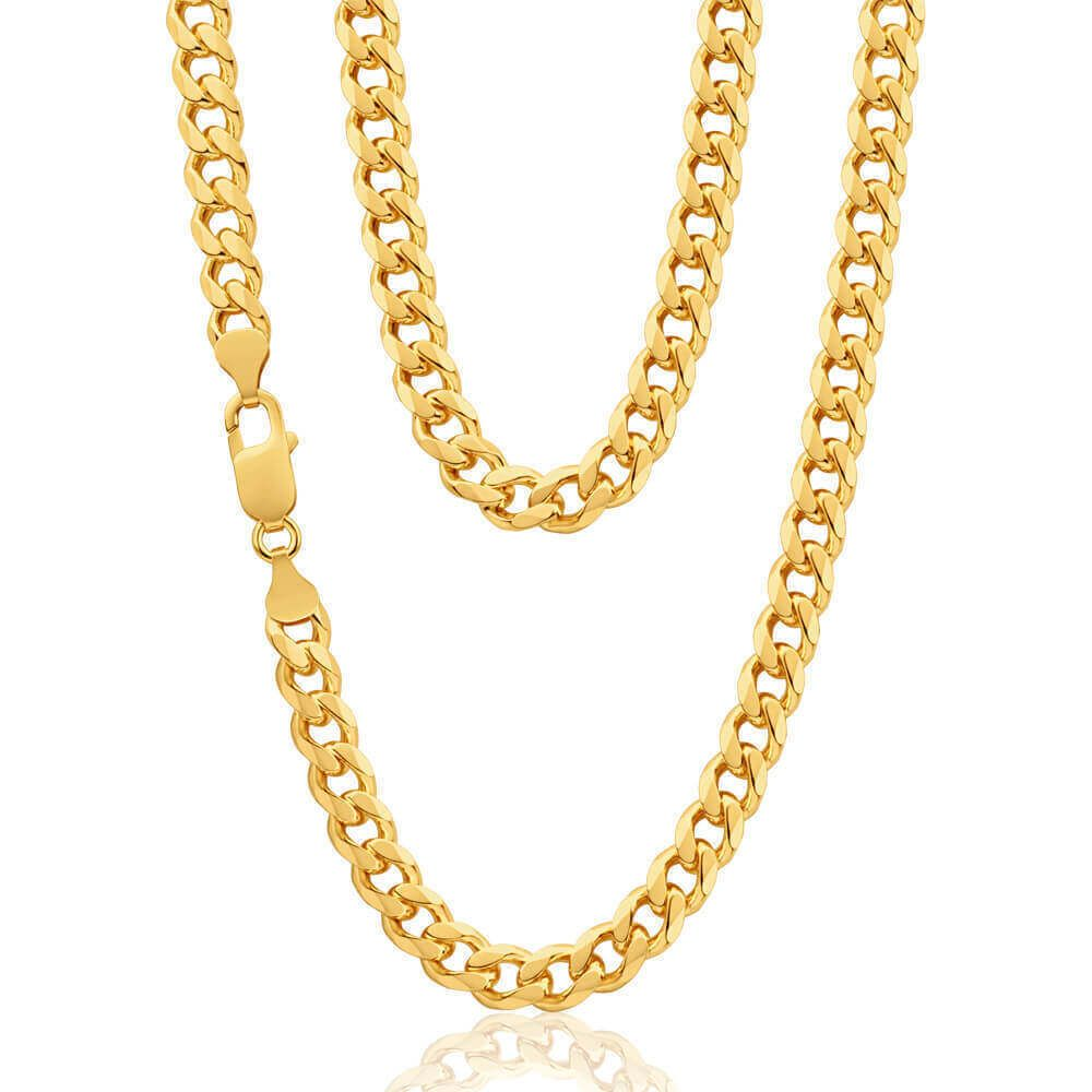 Pohe haar clipart image transparent library Mens 9ct Gold Curb Chain 22 inch 41 grams | Gold chain ... image transparent library