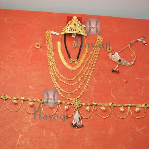 Pohe haar clipart graphic library download Traditional Beautiful Festive Gold Gauri Ganesh Accessories Combo Set  Online -Hayagi graphic library download