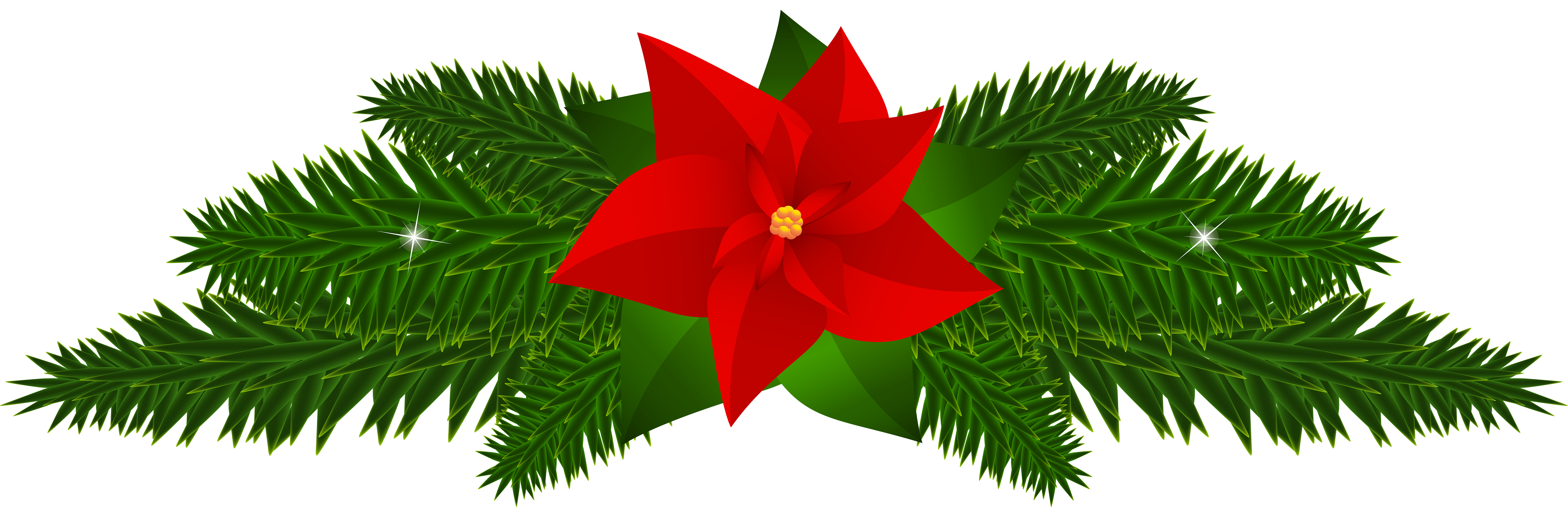 Poinsettia tree clipart clip art black and white library Christmas Poinsettia Decoration PNG Clip Art | Gallery Yopriceville ... clip art black and white library