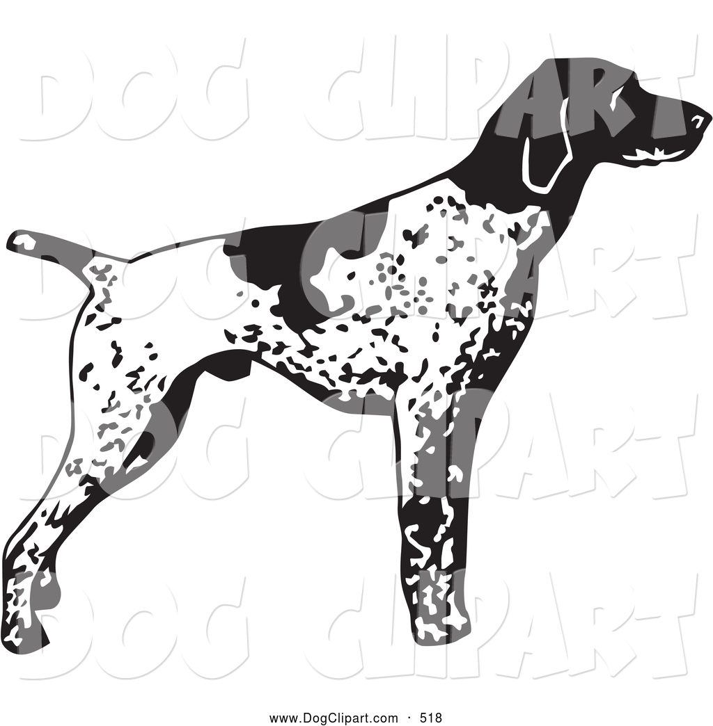 Pointer dog clipart jpg freeuse Clip Art of an Alert English Pointer Dog, Standing and Pointing ... jpg freeuse