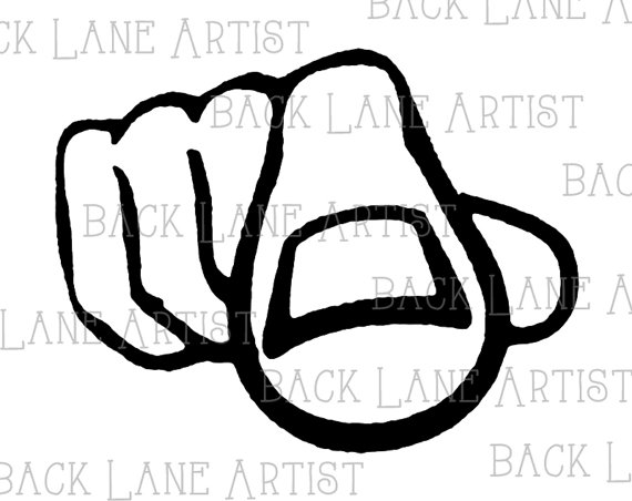 Pointer du doigt clipart royalty free Pointing Hand Finger Point Retro Clipart Lineart by BackLaneArtist royalty free