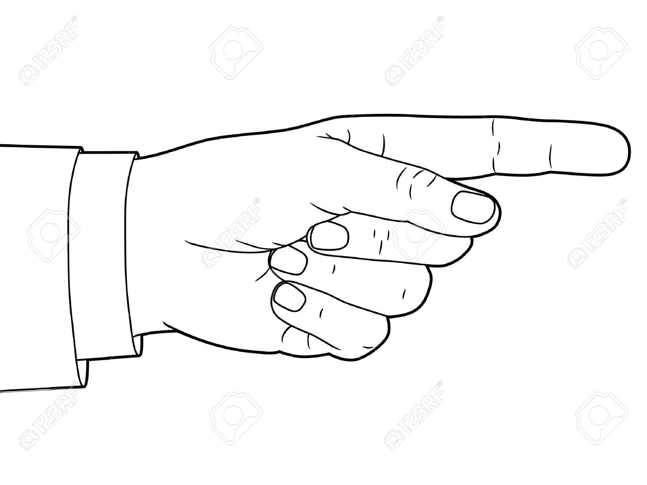 Pointer du doigt clipart royalty free library Hand Sign With Pointing Finger Royalty Free Cliparts, Vectors, And ... royalty free library