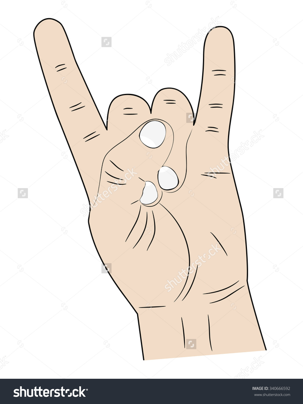 Pointer finger and pinky finger clipart images image freeuse library Sign Hands Index Finger Pinky Fingers Stock Vector 340666592 ... image freeuse library