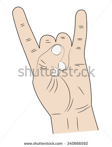 Pointer finger and pinky finger clipart images graphic freeuse library Sign Hands Index Finger Pinky Fingers Stock Vector 340666592 ... graphic freeuse library