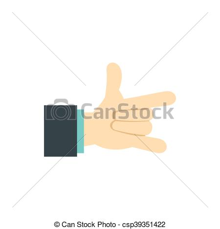 Pointer finger and pinky finger clipart images jpg black and white download Vector Illustration of Gesture with index finger and little finger ... jpg black and white download